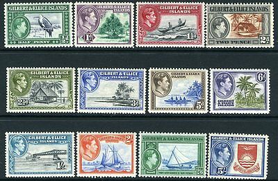 GILBERT & ELLICE ISLANDS-1939-55 Set to 5/- Sg 43-54 LIGHTLY MOUNTED MINT V12123