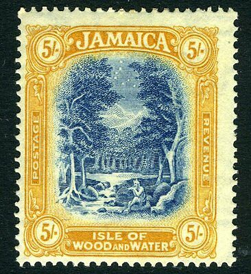 JAMAICA-1927 5/- Blue & Yellow-Orange Sg 105b  MOUNTED MINT V12037