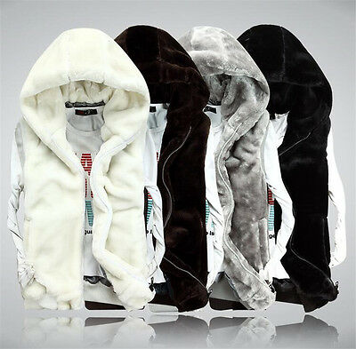 winter jacket vest Women's and men cotton plush down Hooded Parka Outerwear