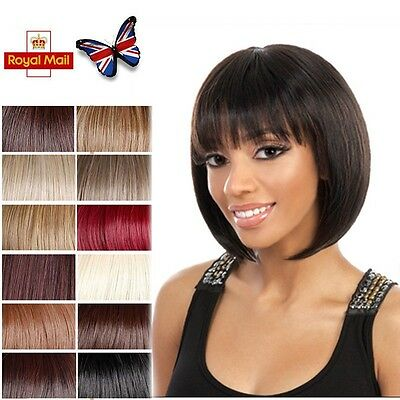 Women Ladies New Short BOB Wig Black Blonde Brown Full Straight Hair Wigs UK #88