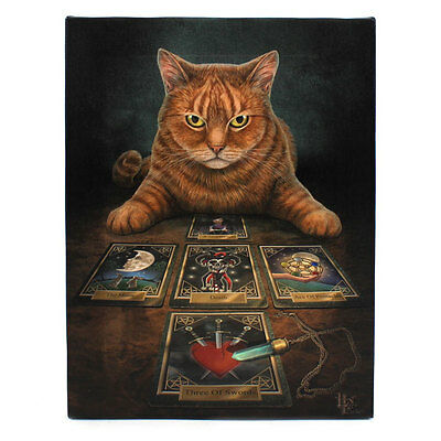 Oracle Tarot Cat Canvas 'the Reader' By Lisa Parker Mythical Wall Art