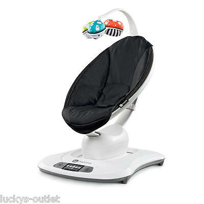 4Moms LCD MAMAROO SWING Adjustable Electric BABY BOUNCER Classic Black Preowned