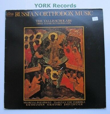 1585-02 - RUSSIAN ORTHODOX MUSIC - The Tallis Scholars - Excellent Con LP Record