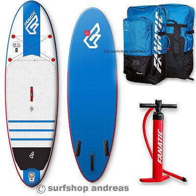Fanatic Fly Air SUP 2016 10'8'' INFLATABLE aufblasbar iSUP Surfboard Paddel