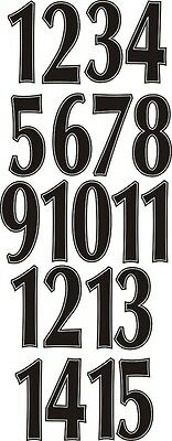 Vinyl 9 Inch  Iron on Numbers Pack of 1 - 15 Choice of 15 Different Colours