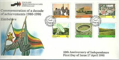 Zimbabwe 1990 10th Anniv of Independence FDC
