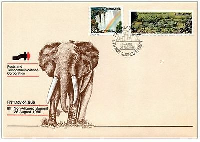 Zimbabwe 1986 8th Non-Aligned Summit Conference FDC