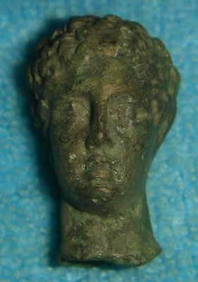 ANCIENT ROMAN BRONZE FIGURINE HEAD BUST STATUETTE 1 - 2nd CENTURY AD Ref.782