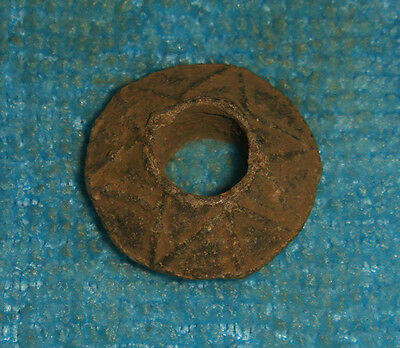 STUNNING ANCIENT ROMAN  LEAD SPINDLE WHORL  1- 3rd CENTURY AD Ref.709