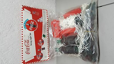New 1995 Coca-Cola String Light Set with bottles & coke machines 14 ft long
