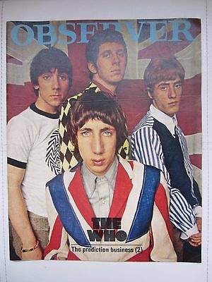 THE WHO ~ OBSERVER MAGAZINE (UK) ~ MARCH 20th, 1966 ISSUE ~ RARE ~ EXCELLENT