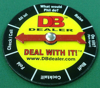 Poker Texas Hold 'Em CARD GUARD Decision Maker Spinner LOOK! Free Shipping *