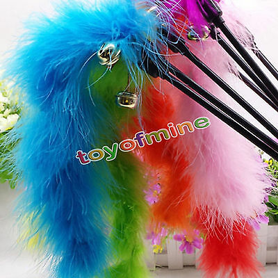 Fun chat chaton pet teaser turquie plume jouet activité fil chaser wand toys new