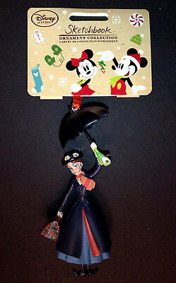 DISNEY Store 2016 SKETCHBOOK CHRISTMAS Ornament MARY POPPINS NWT
