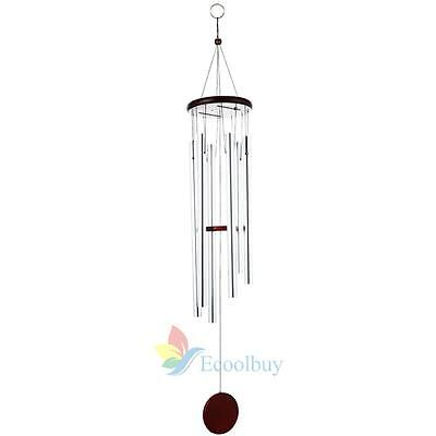 Chic Decor Windchimes Wind Chime Metal 6 Tubes Hanging Ornament Garden Home A