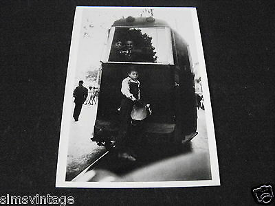 Unusual Weird B Postcard Barcelona Spain 1951 Tram