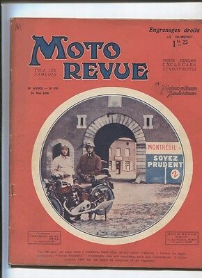 Moto Revue N°376  ;  24  mai 1930  : 4 cylindres moto