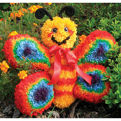 Huggables Butterfly Stuffed Toy Latch Hook Kit