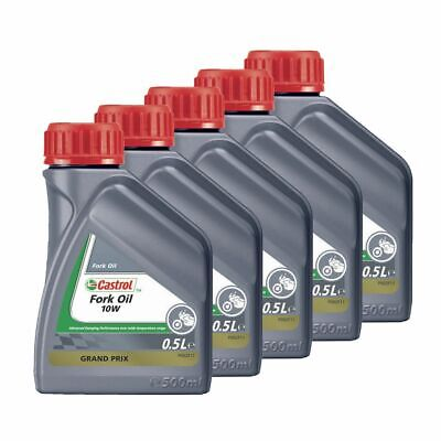 Castrol Motorcycle / Motorbike / MX Suspension Fork Oil 10W - 2.5L (5 x 500ml)
