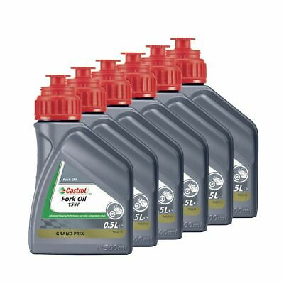Castrol Motorcycle / Motorbike / MX Suspension Fork Oil 15W - 3L (6 x 500ml)