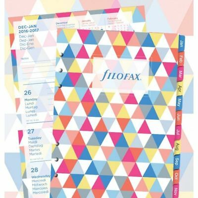 Filofax- A5 Week on 2 Pages Illustrated Geometric Diary Pack 2017