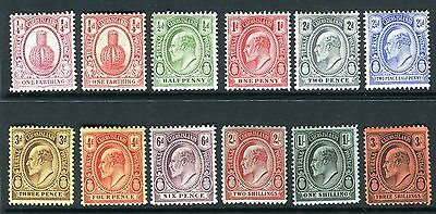 TURKS & CAICOS-1909-11  A mounted mint set to 3/- Sg 115-126