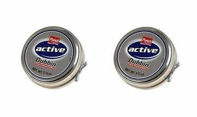 2 x Punch Active Dubbin Tin Wax Waterproof For Leather Shoes And Boots 50ml