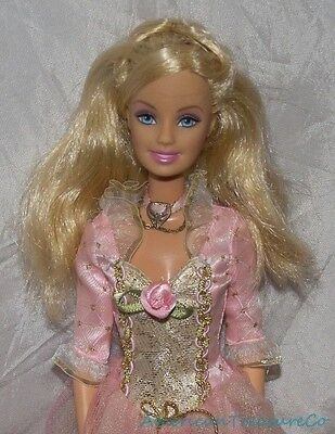 Gorgeous 2004 BARBIE PRINCESS & PAUPER SINGING ANNELIESE Doll w/Gown WORKS