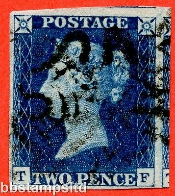 """SG. 4. D1 (1) uc. DS1. """" TF """". 2d deep blue. Plate 1. A good used example."""