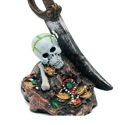 Aquarium Décoration Pirate Skull Cave pour Resin Ornement de cadeau