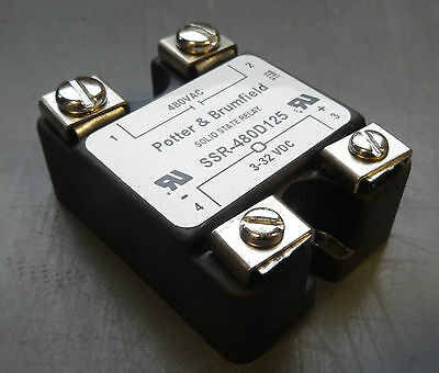NEW Potter & Brumfield SSR-480D125 Solid State Relay
