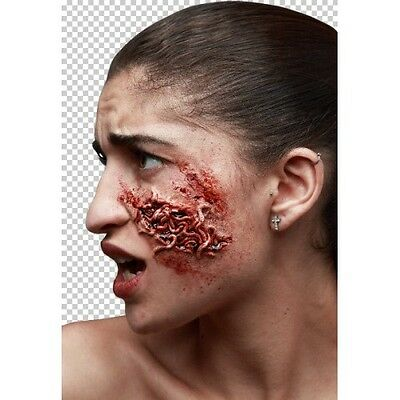 Prosthetic Wounds Bloody Worms Halloween Fancy Dress