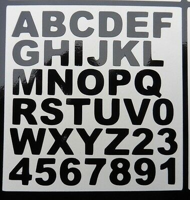 vinyl Number & letter sheet stickers Decals weather proof door office home 5434