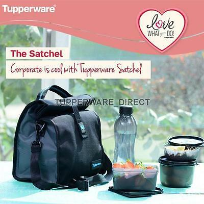 Tupperware New Satchel Lunch Set - Black edition - Crystal wave - Cool n fresh