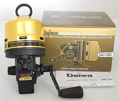 Daiwa GoldCast III 4.1:1 Spincast Left/Right Hand Fishing Reel - GC120