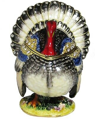 Turkey Jeweled Trinket Box with SWAROVSKI Crystals