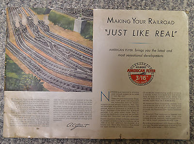 Large Original 1946 American Flyer Train Catalog Good Condition Missing Cover