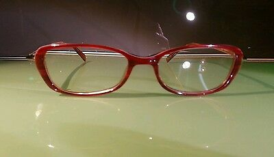 Jones New York prescription glasses vintage farsighted very good condition red