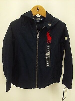 Nwt Polo Ralph Lauren Windbreaker Jacket Boys Navy