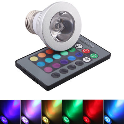 4 20X GU10 4W 16 Color Changing RGB LED Light Bulb Dimmable Lamps Remote Control