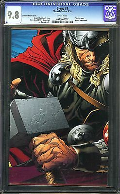 "Siege #3 CGC 9.8 NM/MT Marvel ""Virgin"" cover Thor Hemsworth Quesada Variant"