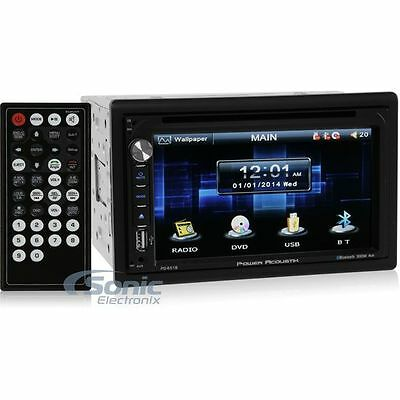 "Power Acoustik PD-651B Double-DIN Bluetooth DVD Car Stereo w/ 6.5"" TouchScreen!"