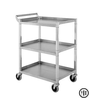 Stainless Steel Bus/Utility Cart 250 lb Capacity- Knockdown