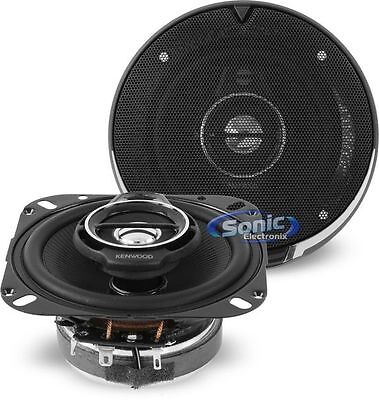 "Kenwood KFC-1095PS 220W 4"" 3-Way Performance Series Coaxial Car Stereo Speakers"