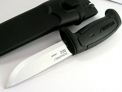 Mora Morakniv Basic 511 BLACK Skinner Carbon Steel Blade Knife Sweden 511 BLACK