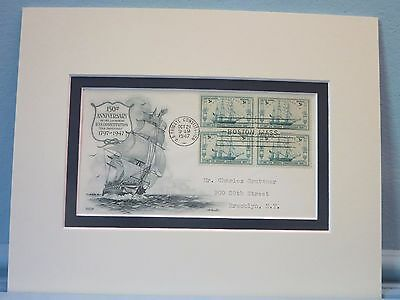 """USS Constitution - """"Old Ironsides"""" & First Day Cover of 150th Anniversary stamp"""