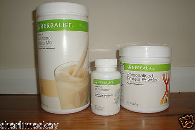 Herbalife Protein Plus Starter Programme YOU CHOOSE F1 FLAVOUR EXP FROM: 4/2017