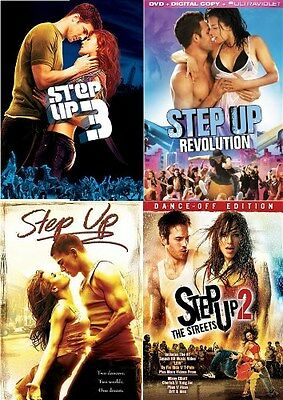 STEP UP 1 2 3 4 New 4 DVD 4 Films The Streets Revolution