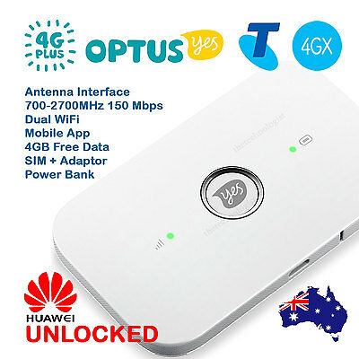 FACTORY UNLOCKED 4G LTE Router Telstra 4GX Optus 4G+ Pocket WiFi Modem Broadband