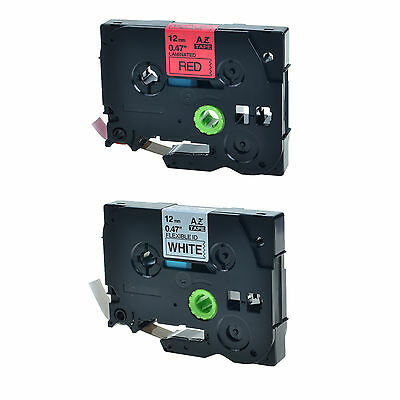 2PK TZ TZe 431 231 Label Tape For Brother P-Touch PT-1010 PT-1010B 12mm x 8m